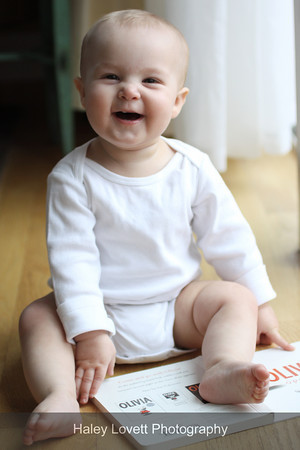 laughing baby portrait portland oregon
