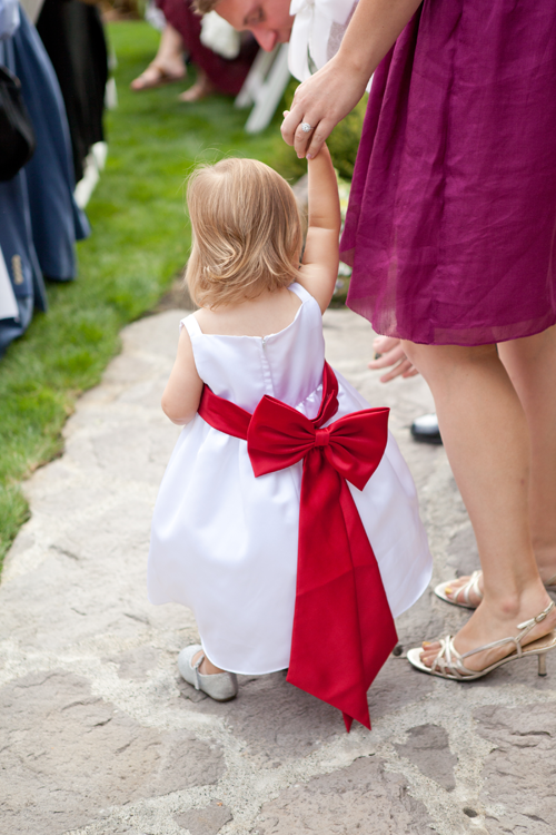 flower girl red bow