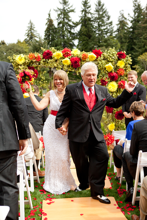 dancing wedding recessional