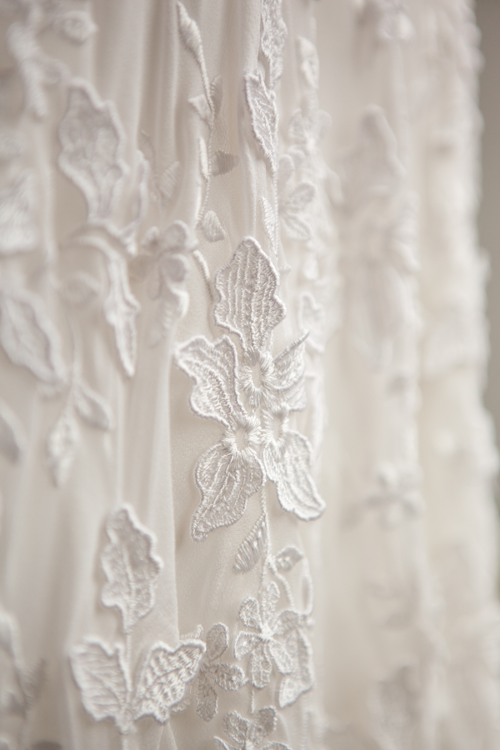 wedding dress close up