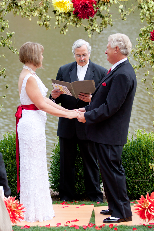 wedding vows on the lake in milwaukie