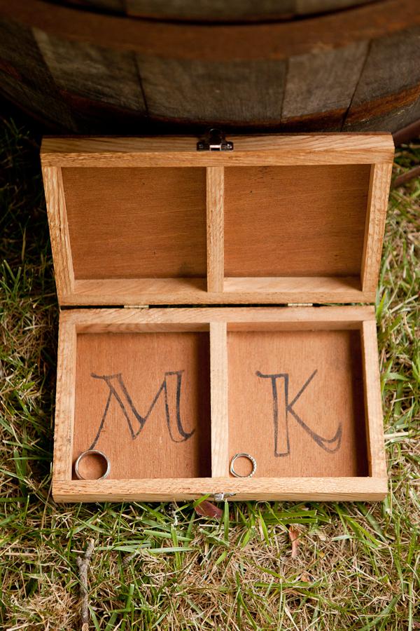 wooden wedding ring box