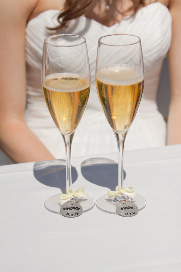 his and hers champagne glasses