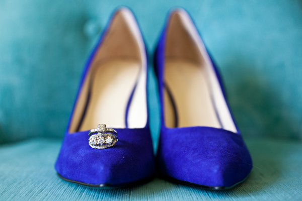 blue high heel wedding shoes
