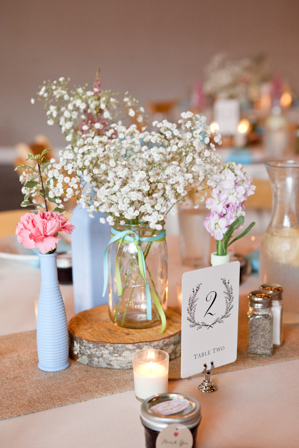 babys breath wedding centerpiece