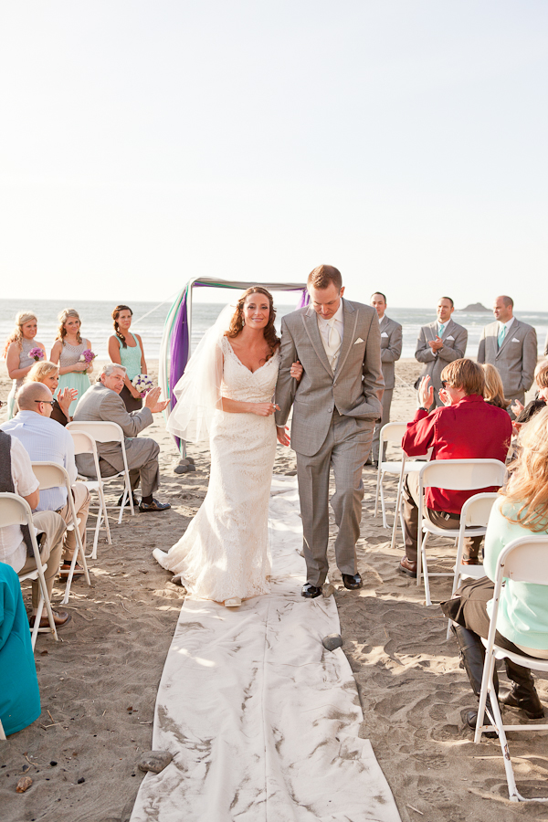 wedding ceremony sunset oregon beach lincoln city