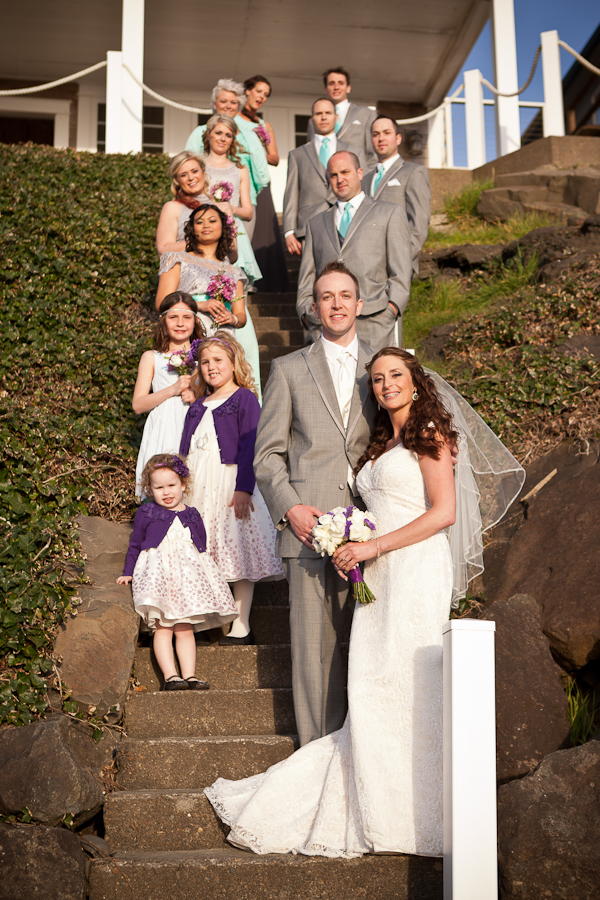 lincoln city wedding roads end wedding party portrait