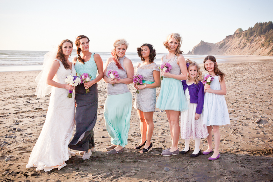 green grey and purple wedding party colors