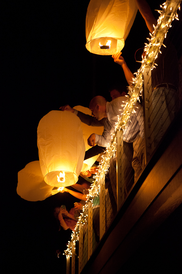 paper lanterns oregon wedding
