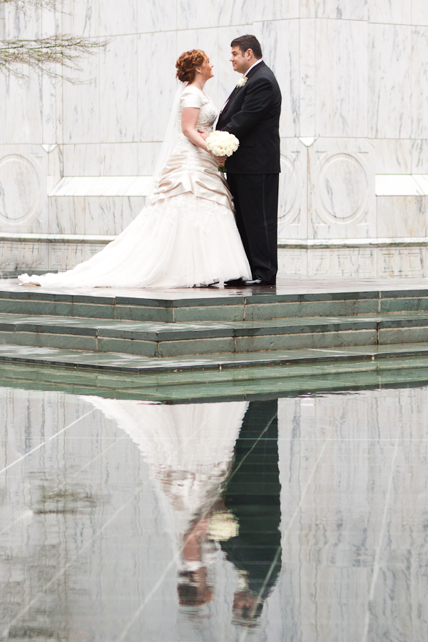 winter wedding portland lds temple