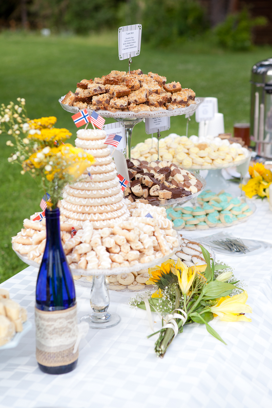 assorted light desserts table