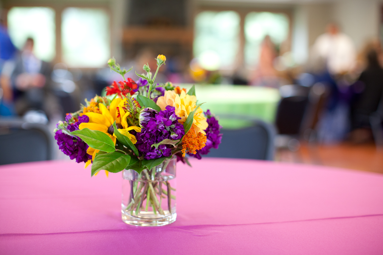 pink_yellow_purple_table_centerpieces