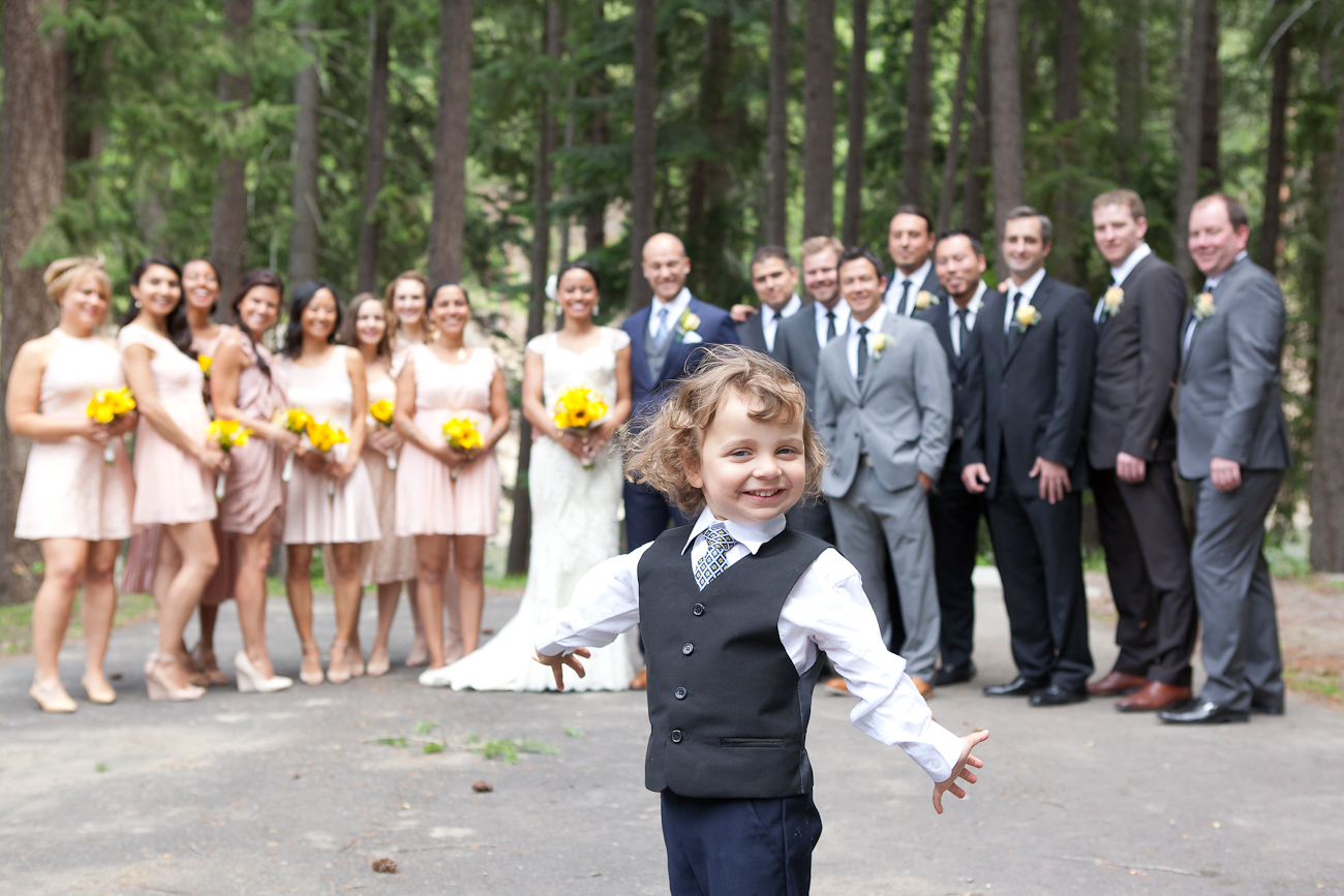 ring bearer with bridal party