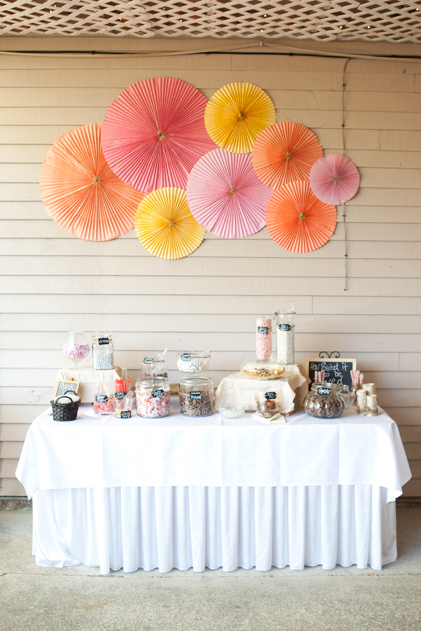 wedding_candy_bar_pink_orange_yellows