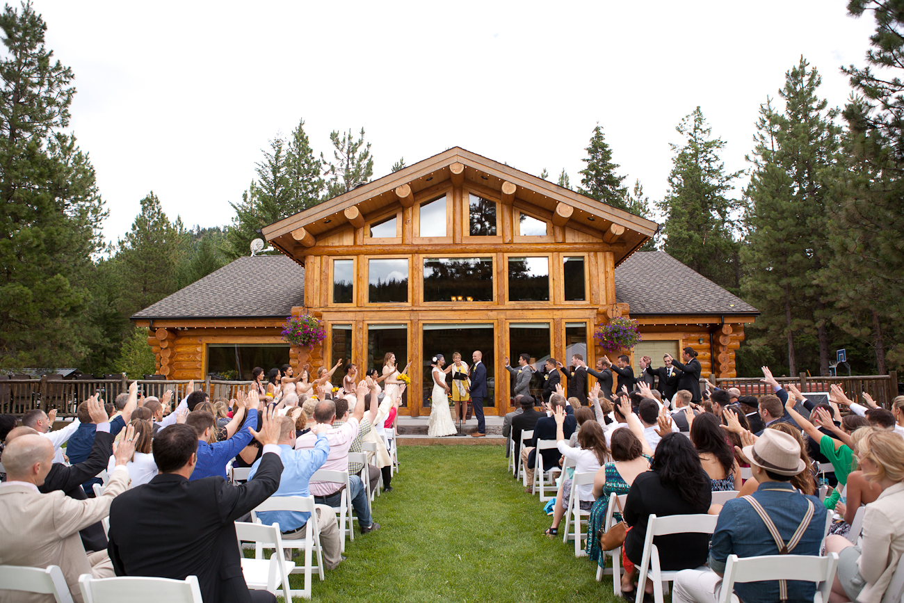 woodsy cabin wedding venue