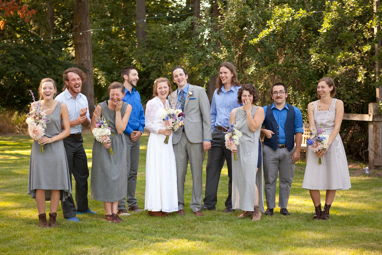 wedding_entire_bridal_party_mixed_outfits_greys_blues
