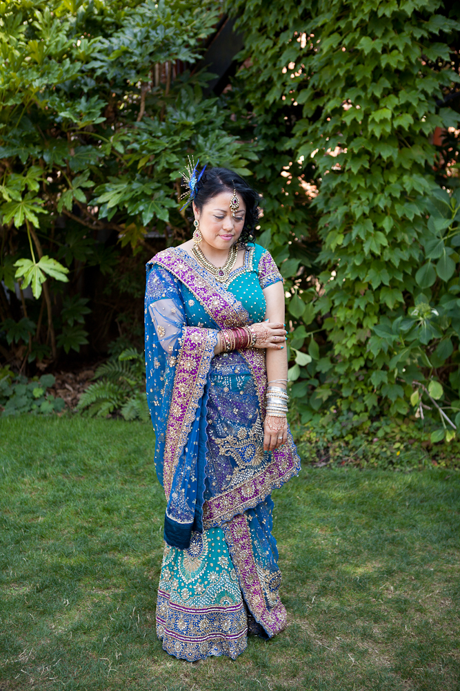bride-in-sari-and-beaded-skirt-blue-purple-teal-gold