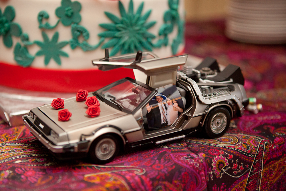 delorean-car-cake-topper