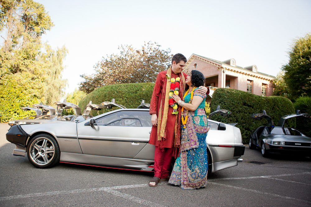 delorean-cars-at-wedding-oregon
