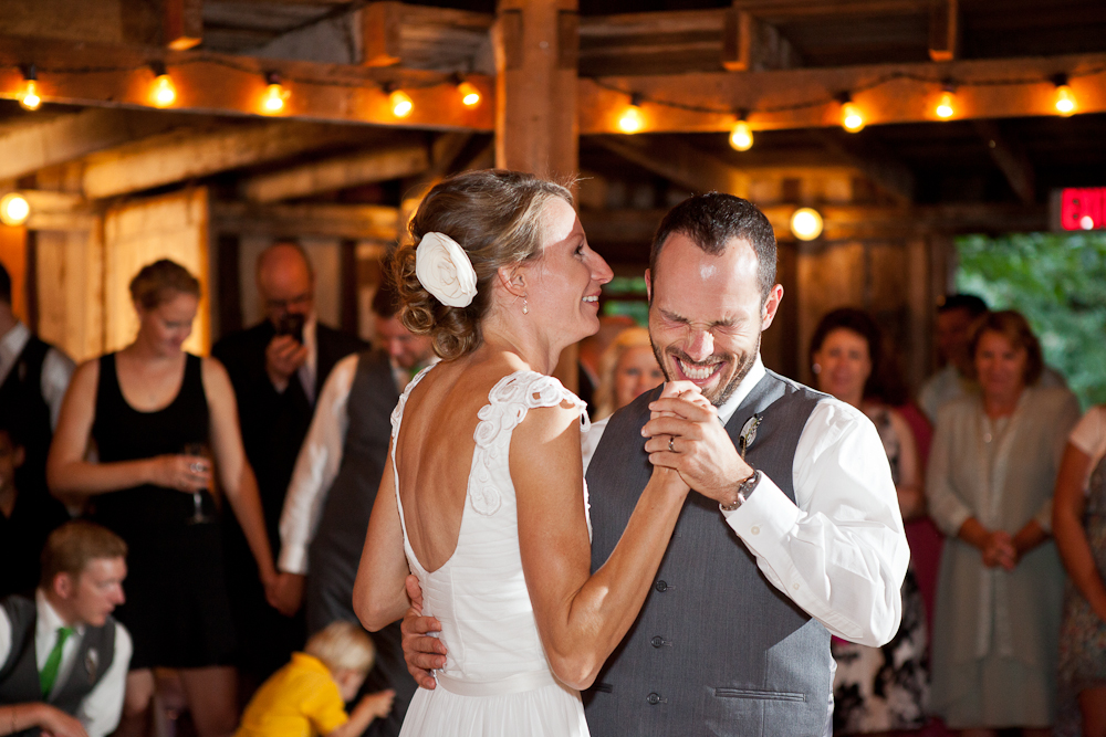 first_dance_octagonal_barn_wedding_reception_portland