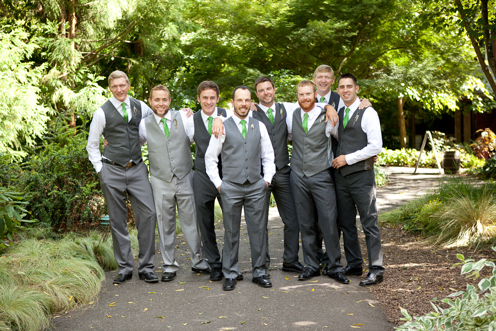 groomsmen_grey_suits_green_ties