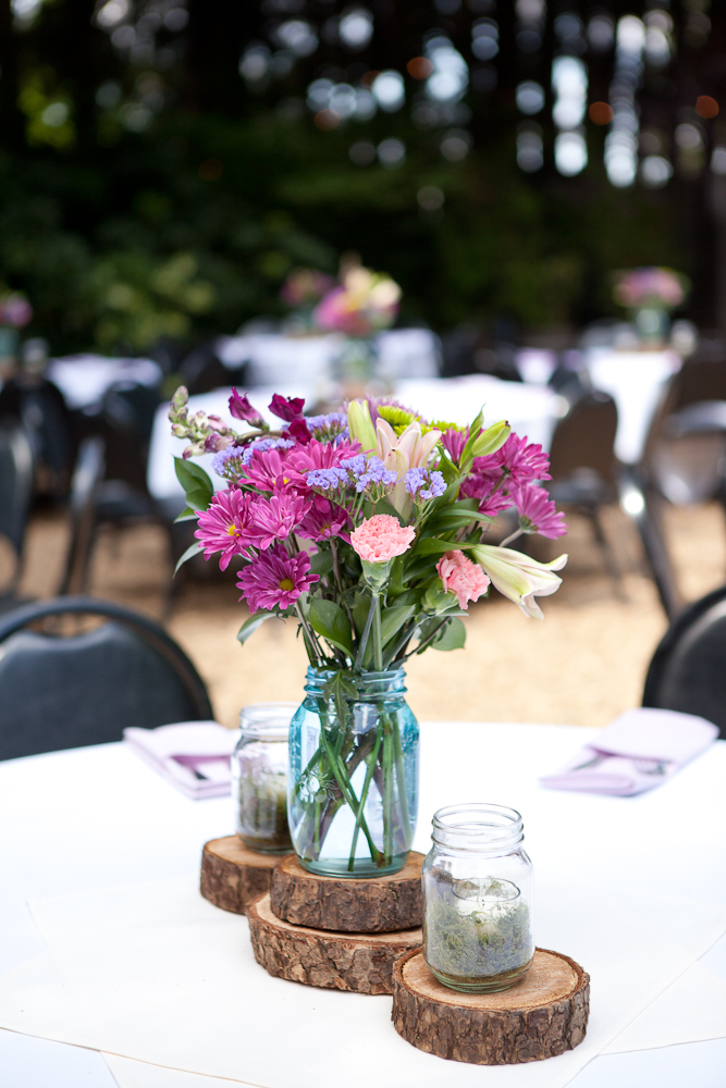 wood_coins_wedding_centerpieces