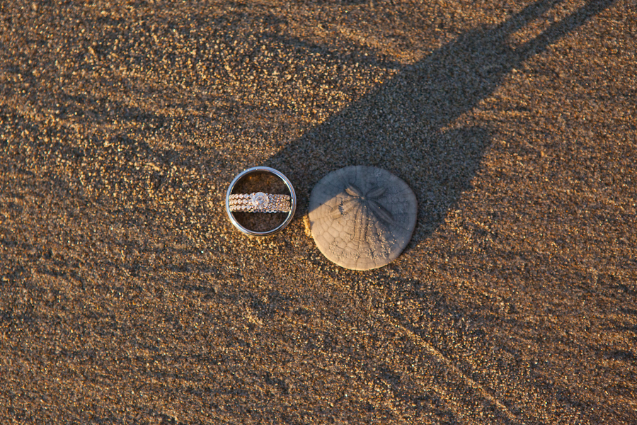 oregon-elopement-beach ring sand dollar