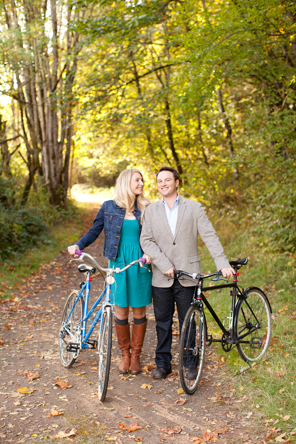 portland engagement sauvie island bikes