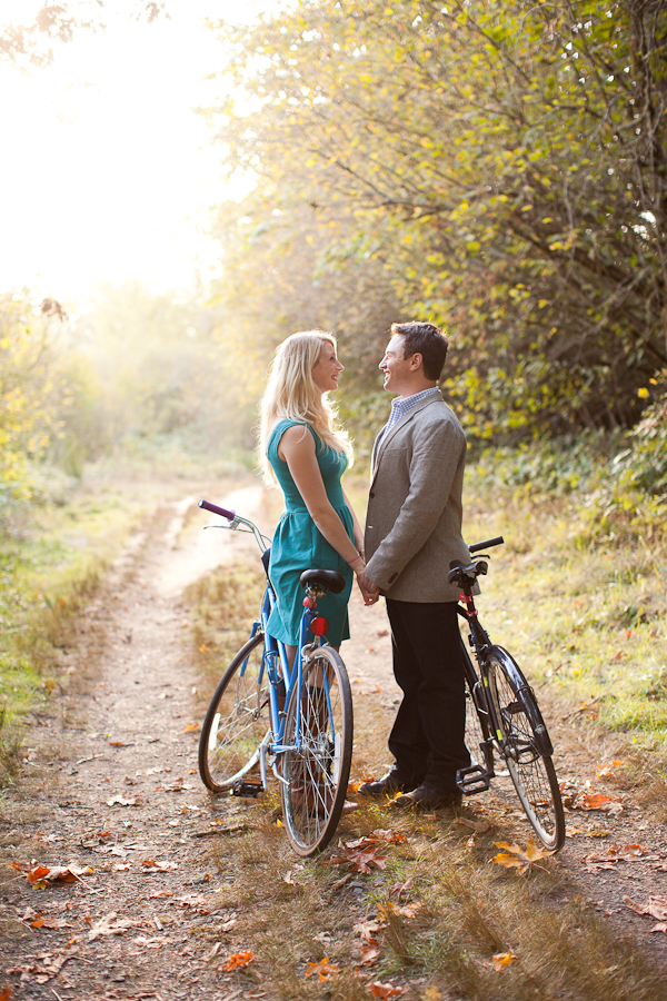 portland engagement sauvie island woods